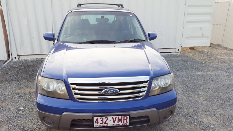 Sold Automatic Ford Escape 4 Cylinder Blue 2007 Used
