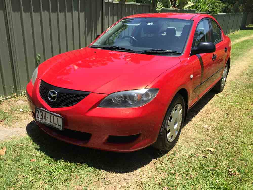 2004 mazda 3 bk neo red 5 speed manual sedan used. Black Bedroom Furniture Sets. Home Design Ideas