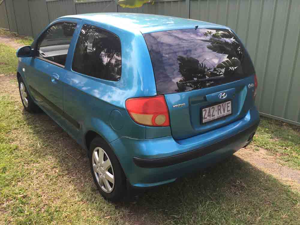 hyundai getz hatchback 2004 blue 6 used vehicle sales. Black Bedroom Furniture Sets. Home Design Ideas