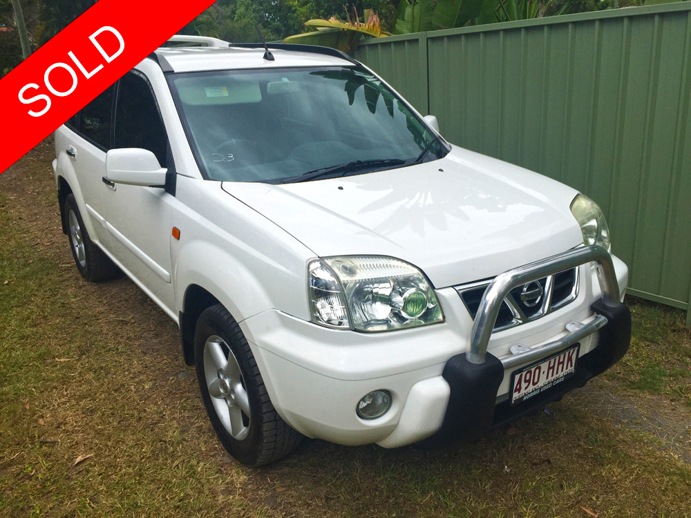 2003 nissan x trail ti 4x4 white used vehicle sales. Black Bedroom Furniture Sets. Home Design Ideas