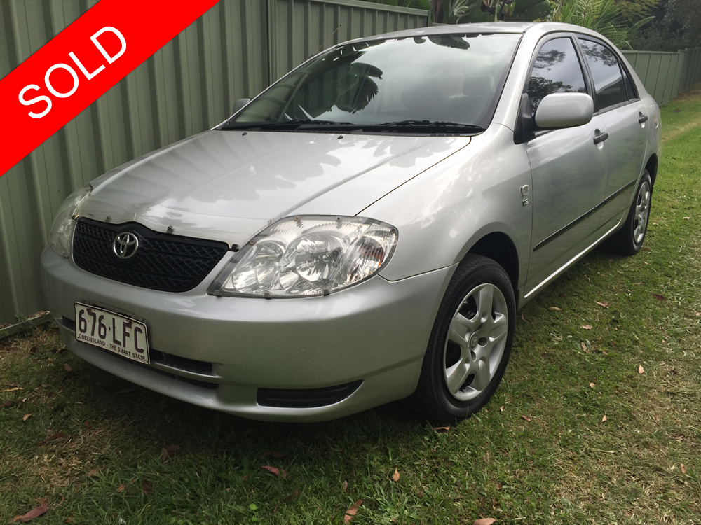 2004 toyota corolla zze122r ascent silver used vehicle sales. Black Bedroom Furniture Sets. Home Design Ideas