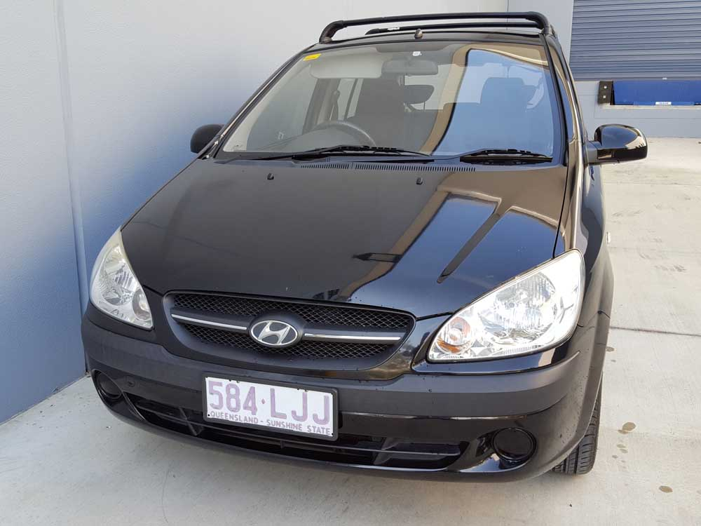 automatic hyundai getz 2008 black used vehicle sales. Black Bedroom Furniture Sets. Home Design Ideas