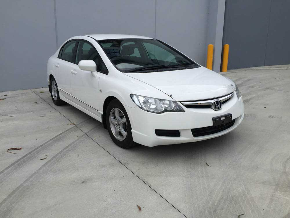 2006 honda civic automatic sedan white 1 used vehicle sales. Black Bedroom Furniture Sets. Home Design Ideas