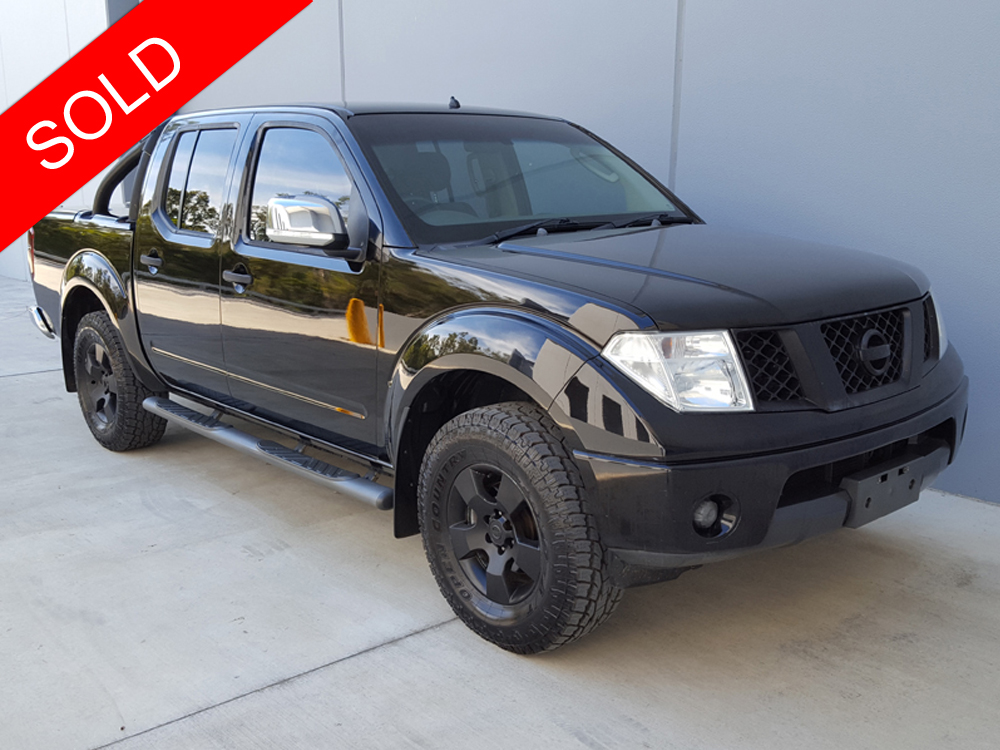 2007 nissan navara dual cab st x d40 black used vehicle sales. Black Bedroom Furniture Sets. Home Design Ideas