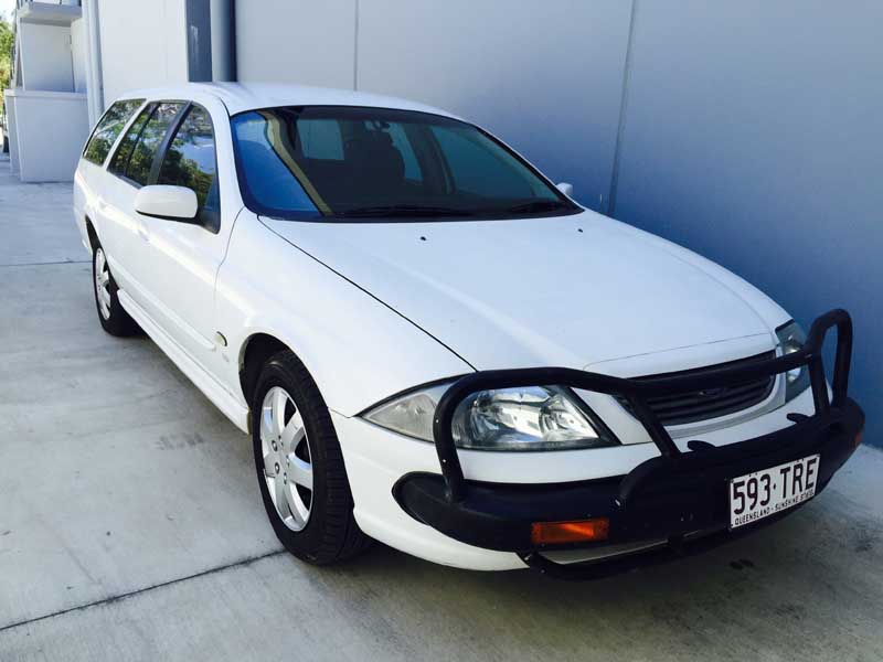 Ford Falcon Station Wagon Au Series Iii 2002 White Used