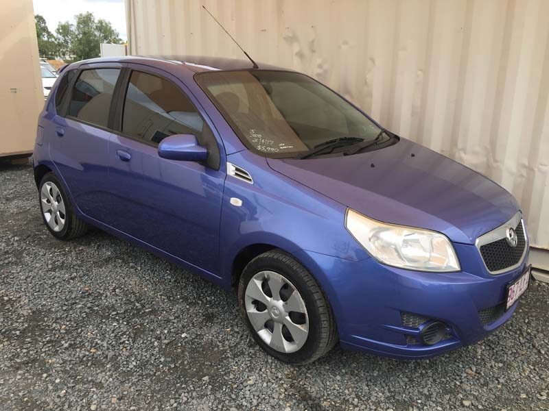 Automatic Hatchback Holden Barina 2008 Blue Used Vehicle Sales