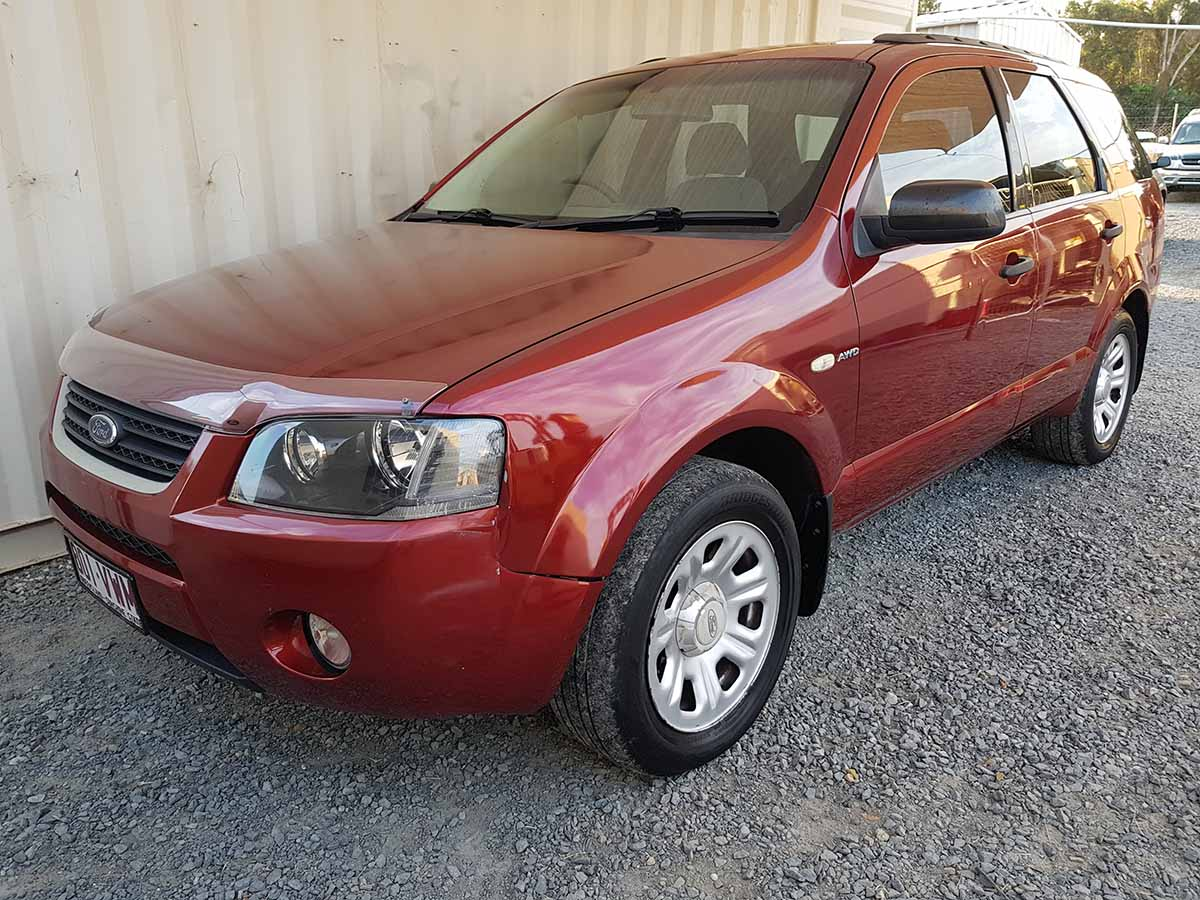 automatic awd ford territory suv 2005 red used vehicle sales. Black Bedroom Furniture Sets. Home Design Ideas