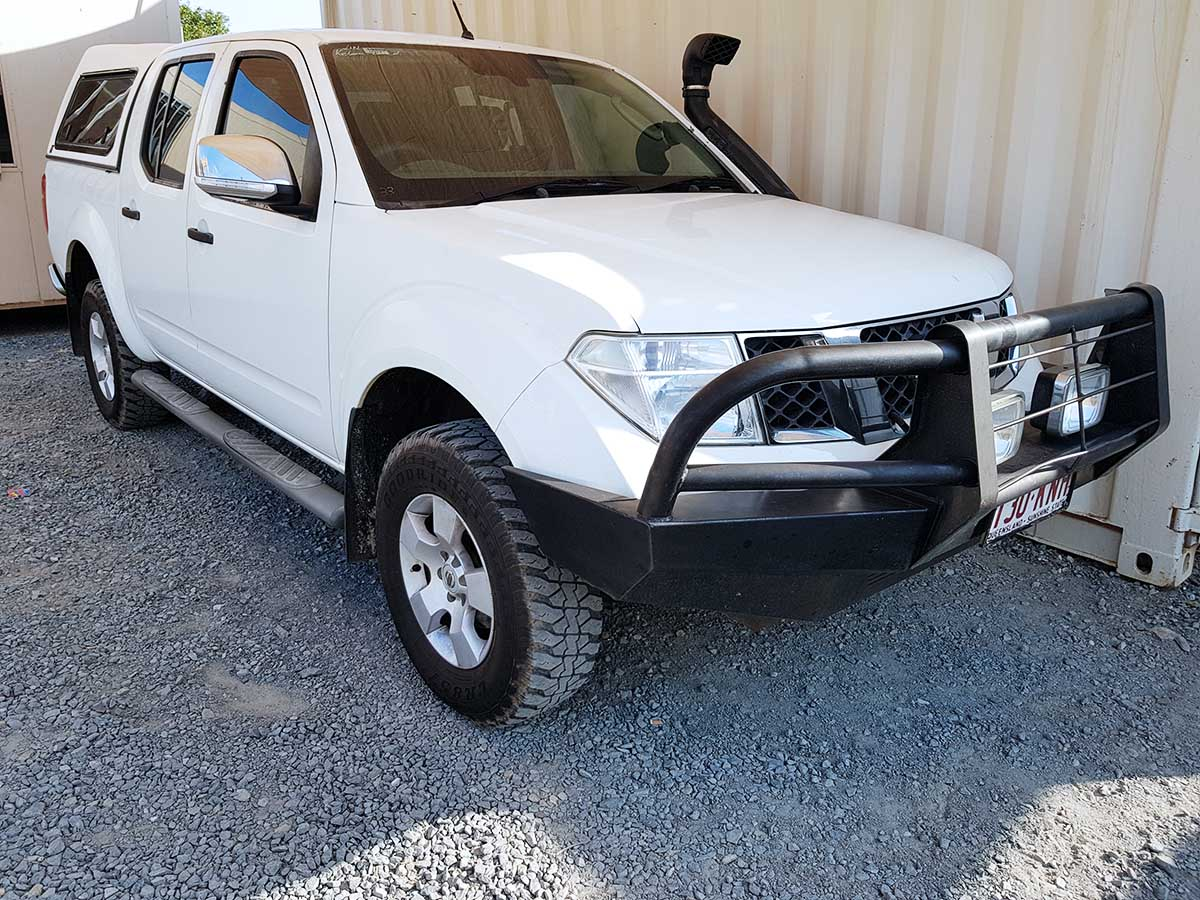 nissan navara d40 st x dual cab 2007 white used vehicle sales. Black Bedroom Furniture Sets. Home Design Ideas
