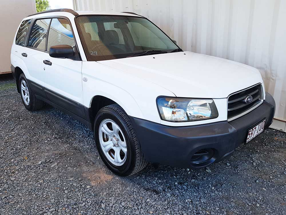 subaru forester x 2003 white for sale 5 250 used vehicle sales. Black Bedroom Furniture Sets. Home Design Ideas