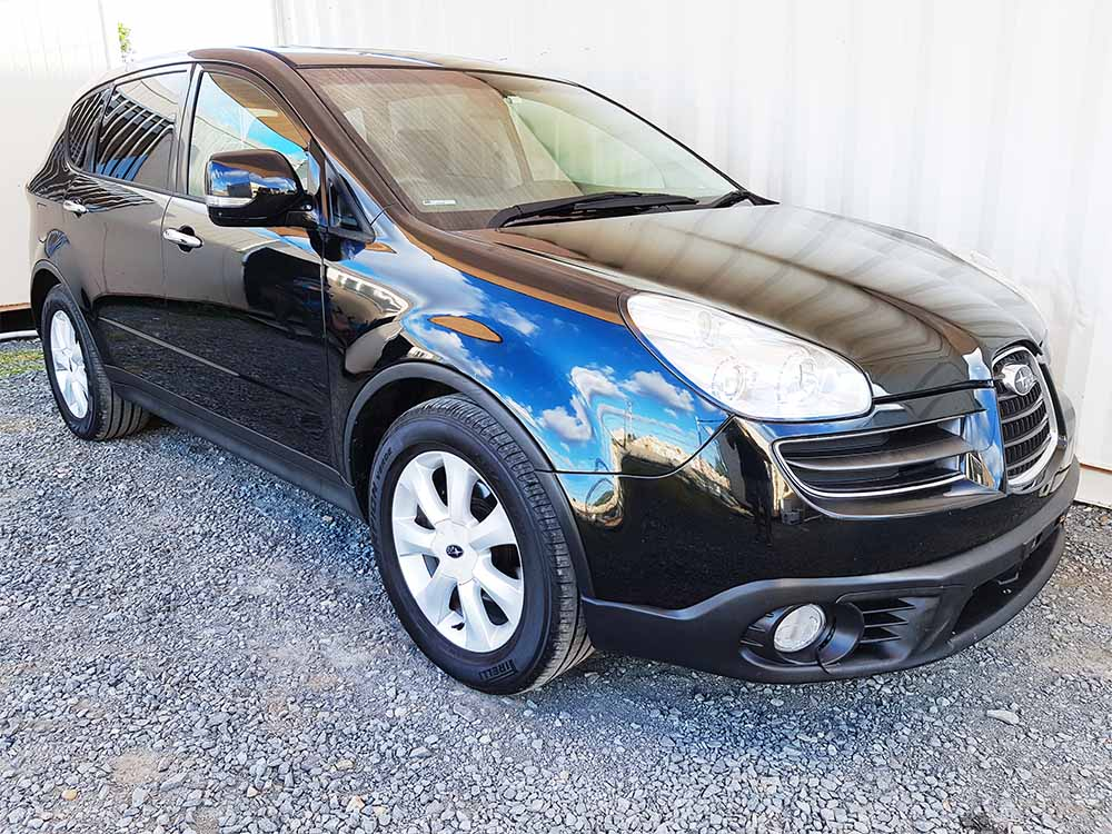 sold subaru tribeca black 2007 used vehicle sales. Black Bedroom Furniture Sets. Home Design Ideas