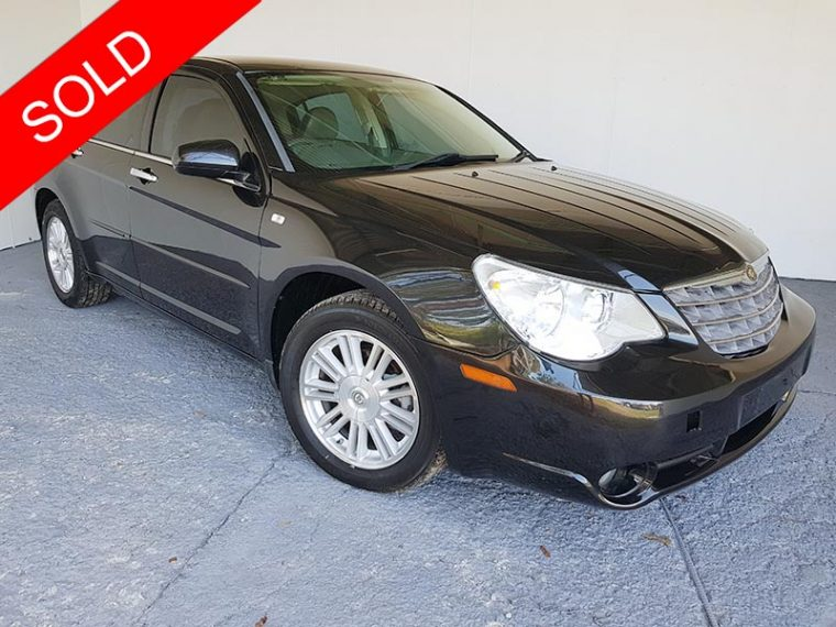 2008 Chrysler Sebring Black