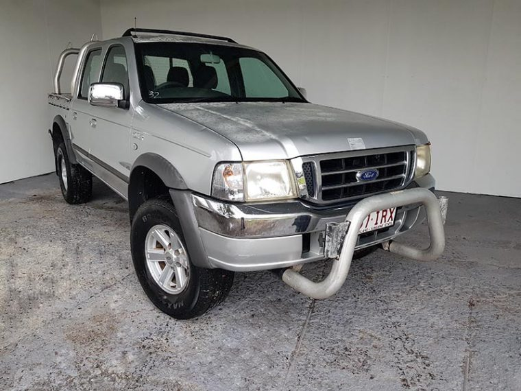 Automatic Dual Cab Ute 4x2 Ford Courier 2005 Silver