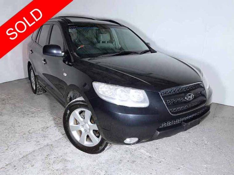Sold Automatic 4 215 4 Suv Hyundai Santa Fe 2006 Black