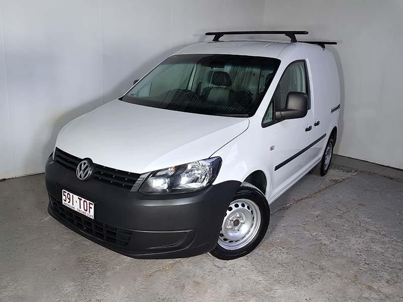 SOLD) Turbo Petrol Volkswagen Caddy Runner SWB Van 2014 White